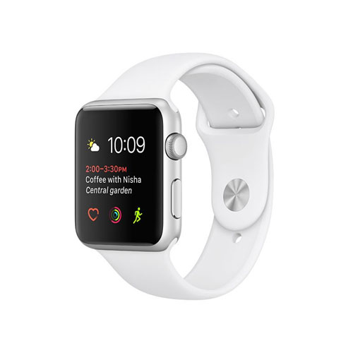 Apple Watch Series 2 Silver Aluminum Case With White Sport Band
